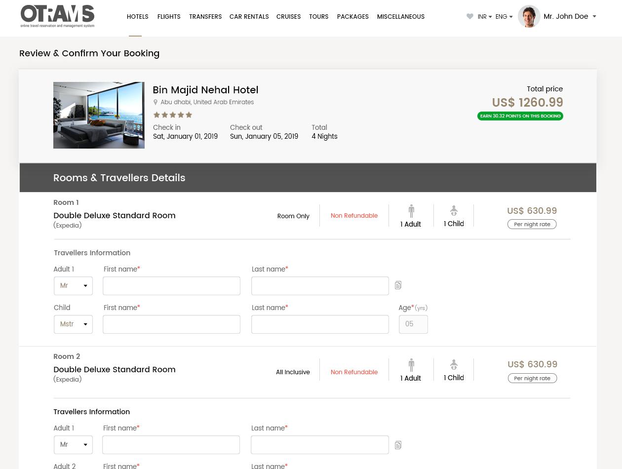 OTRAMS,online travel management system