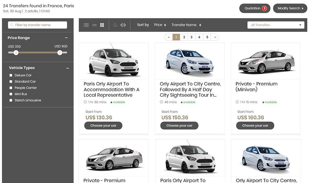 option in car booking software, car rental management software