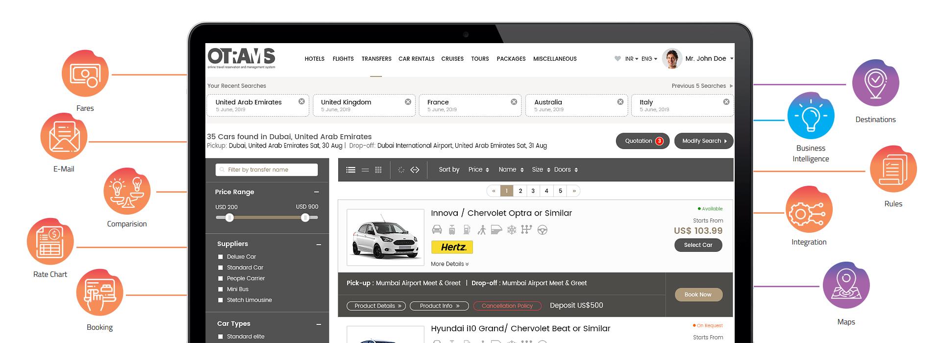 car rental booking system, car rental booking engine