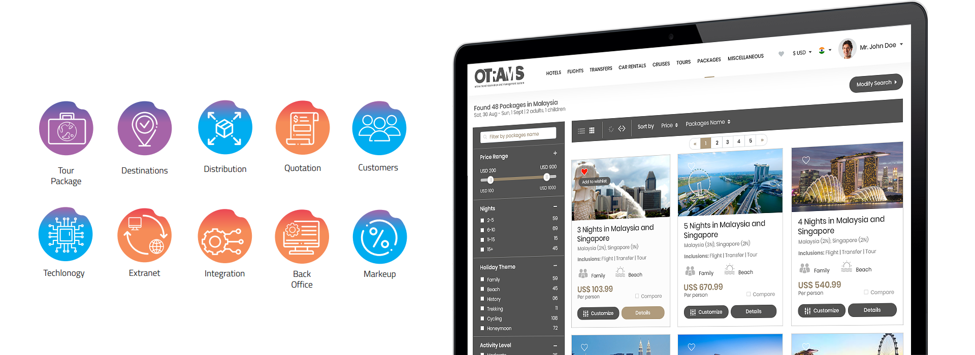 tour operator management software, Erp for tour operators